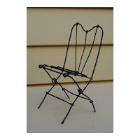 Charming French Wire Chair For A Small Bebe...Circa 1870-1890