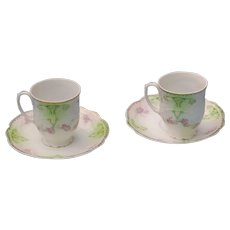 Antique  espresso cups and saucers