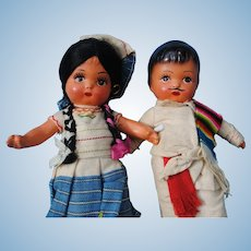 Mexican Composition Dolls, early 20th c.