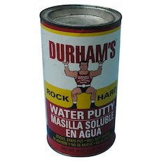 Advertising Container 1979 Durham's Water Putty