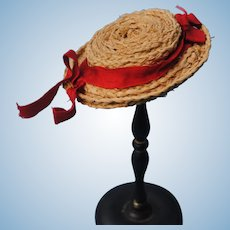 Charming Antique Straw Hat
