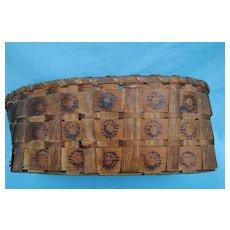 Northeast American Indian Potato Stamped Basket, 19th c.