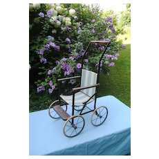 Charming Stroller for a Big Doll, Circa 1910-20