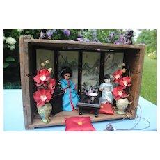 Japanese Tea House Diorama with Alexanders