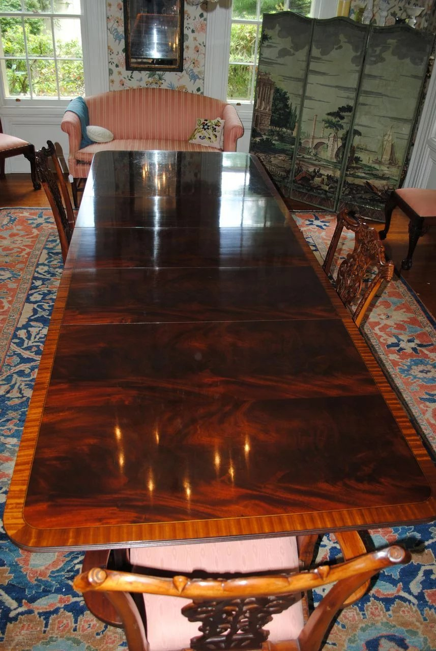 Flame Crotch Mahogany Stickley Dining Conference Table 3