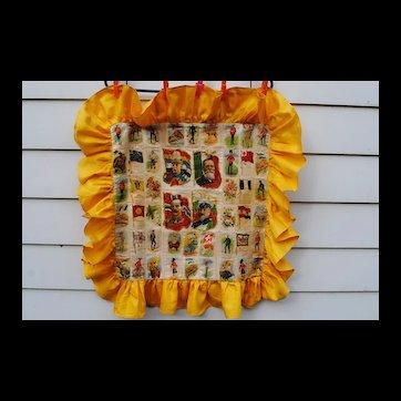 Cigarette Silks Pillow Cover....Incredible Unused Condition