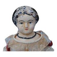 Circa 1860 Darrow Rawhide Doll....Needs Work
