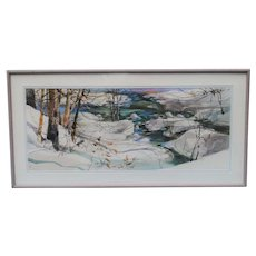 Large and Fine Beverly Golembeski Watercolor....Award Winner!