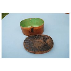 Miniature French Wood Hatbox Circa 1860