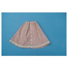 Authentic 19th c. Cotton Print Skirt