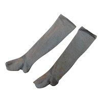 19th c. Pale Blue Cotton Socks