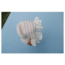 Charming 19th c. bonnet