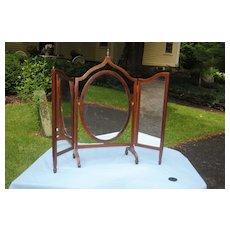 Fine early 19th c. Sheraton Mahogany Mirror