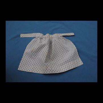 Charming Original 19th c. Polka Dot Apron.....Entirely Hand Sewn
