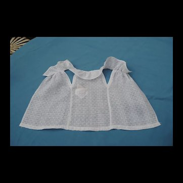 Early 20th c. Pinafore with Pocket and Handkerchief