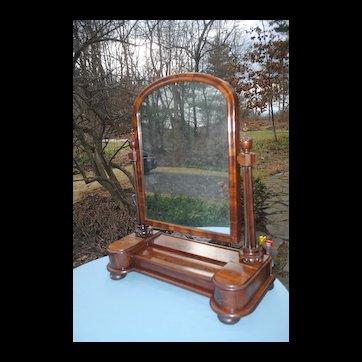 19th c. Handsome Mahogany Dressing Mirror