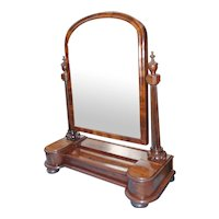 19th c. Handsome Mahogany Dressing Mirror