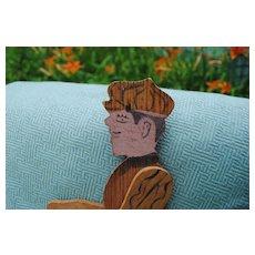 French Friction Toy......Circa 1910......Folk Art Charmer!