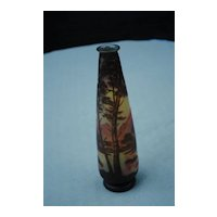 """Large 9 3/4"""" French  Cameo Glass DeVez Vase...."""