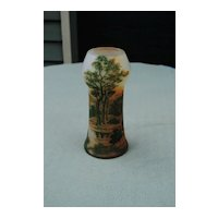 """A Large 8"""" Tall Signed DeVez French Cameo Glass Vase"""