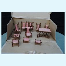 Boxed Set French Dollhouse Furniture Circa 1890-1900