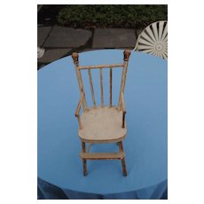 Nice Old Doll Chair In Original Paint