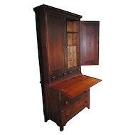 American Country Cherry Secretary Desk....Circa 1830