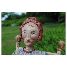 Circa 1930-40 American Folk Art Doll