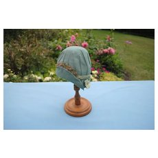 Fabulous Early 20th c. Felt Cloche....For Patsy Type or Bisque Head
