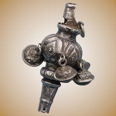 19th c. English Silver Baby Rattle