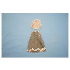 19th c. Little French Dress and Straw Hat