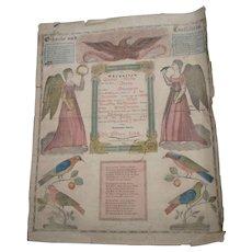 1848 Allentown Pennsylvania Fraktur