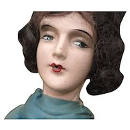 """Early 20th c. Composition """"Smoker"""" Boudoir Doll"""