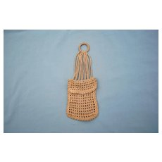 Charming Hand Knit Purse...Late 19th c.