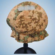 Authentic 19thc. Bonnet for a China or Papier-Mache