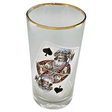 Beer Glass W/Jack of Spades
