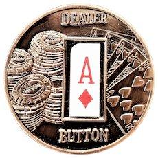 Republic of Palau Bronze Poker Dealer Button