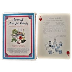 French Recipe Playing Cards