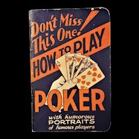 """""""How to Play Poker"""" - Popper Press - 1929"""