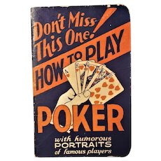 """How to Play Poker"" - Popper Press - 1929"