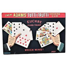 Adam's  Tutti Fruiti Gum Trade Card