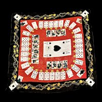 Moschino Couture Silk Scarf W/ PLaying Cards