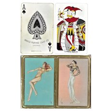 Double Alberto Vargas Pin-Up Decks - Arrco Playing Card Co. - 1941
