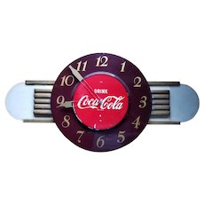 Original Coca Cola Clock with Wings - ca. 1950