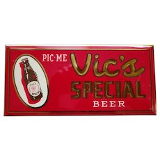 """Vic's Special Beer """"PIC-ME"""" - ca.1950"""