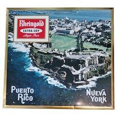 Rheingold Extra Dry Lager Beer - Puerto Rico, Nueva York - Ca.1960
