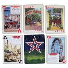 """Deck of """"Amusement & Attractions"""" playing cards in tin case - Inkstone Products - 2007"""