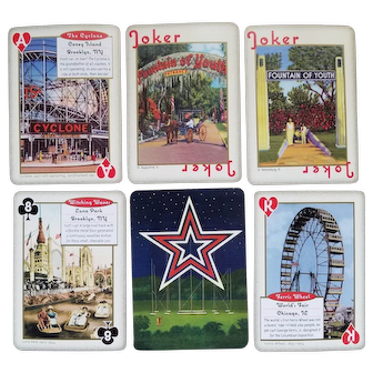 "Deck of ""Amusement & Attractions"" playing cards in tin case - Inkstone Products - 2007"