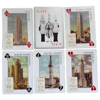 Vintage Skyscraper playing cards - Inkstone Products - 2005