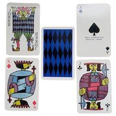 "Pack of ""Comedia"" playing cards printed and published by J.O. Oberg & Son - Eskiluna, Swedenca -1958 - designed by Stig Lindberg"